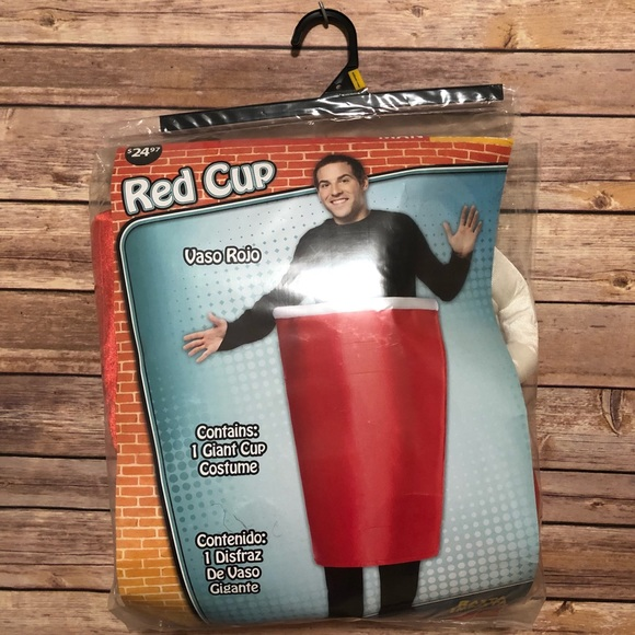 red solo cup costume one size halloween